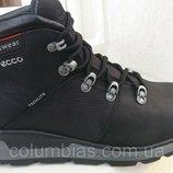 Зимняя мужская обувь, кожаные ботинки ecco