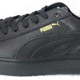 Puma classic Отличного качества Мужские кроссовки кеды натуральная черная кожа Пума классик