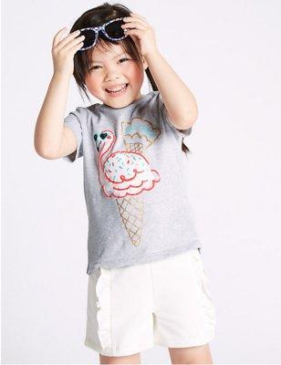 классные футболки от Marks&Spencerдля маленьких модниц Акция