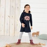 Теплое трикотажное платье для девочки 98-104 Lupilu, Германия