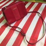 Шикарная красная стильная сумка David Jones /кроссбоди/на цепочке