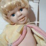 Колекционная винтажная фарфоровая кукла пупс фарфор зубки ребенок