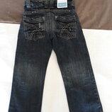 Красивые модные джинсы 100 % котон 110см