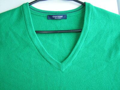 Gran Sasso мужской джемпер 100% шерсть 56-размер. Италия