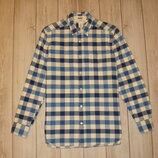 Рубашка в клетку из плотного коттона размер s, рост 170см