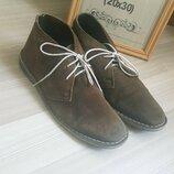 Туфли замшевые мужские кожаные next коричневые 42