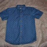 Джинсовая рубашка мальчику Rebel на 11-12 лет рост 152 Англия