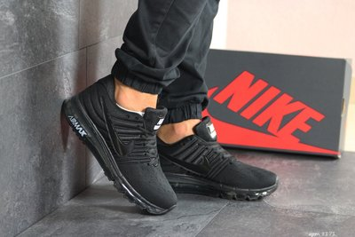 Nike Air Max 2017 кроссовки мужские демисезонные черные 8171