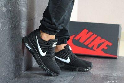 Nike Air Max 2017 кроссовки мужские демисезонные черные с белым 8172