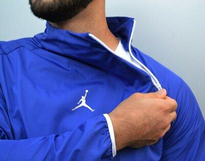 Анорак ветровка Jordan синий
