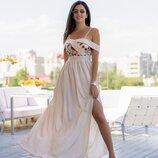 Длинное летнее вечернее платье 42-52 р-р