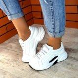 Кроссовки White, натуральная кожа, белые