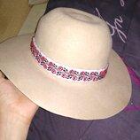Шляпа шляпка фетровая шерстяная шерсть головной убор