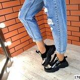 Женские кроссовки Balenciaga натуральная замша и кожа