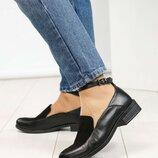 Туфли, натуральная кожа и замша, с ремешком, черные