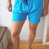 Мужские шорты голубые Hugo Boss