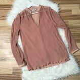 Плиссированная блуза next с оригинальными рукавами Next