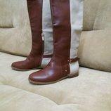 Сапоги женские BASCONI из натуральной кожи кожаные баскони
