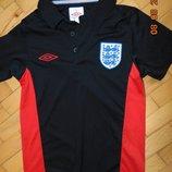 Спортивная тениска поло фирменная футболка зб Англии Umbro.6-9 лет