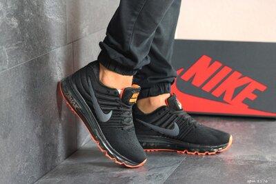 Кроссовки мужские Nike Air Max 2017 черный с оранжевым