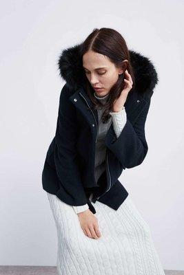 шерстяное пальто с капюшоном ZARA оригинал р XS, p.S, p.M