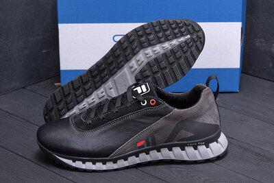 Мужские кожаные кроссовки F15 ч