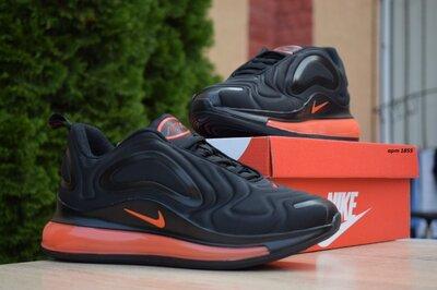 Кроссовки Nike Air Max 720 чёрные с оранжевым