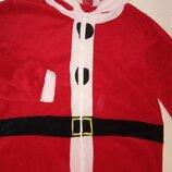 кигуруми теплый ромпер Санта новогодний размер L карнавальный