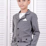 Пиджак для мальчика Школьный рост 116-140