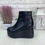 Демисезонные ботинки, натуральный замш и кожа, 10 расцветок