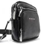Сумка малая через плечо, кожаная черная Gucci 6029-2