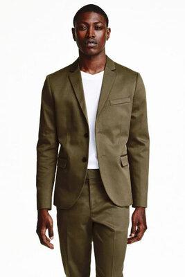Оригинальный твиловый пиджак от бренда H&M разм. 46