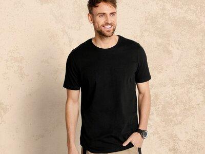 Мужская чёрная футболка Livergy Германия
