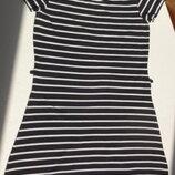 Impuls. Трикотажное полосатое платье. Хлопок. S размер.