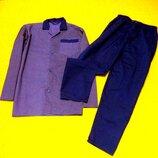 Крутая мужская темно синяя пижама в ромбы.костюм для отдыха и сна.
