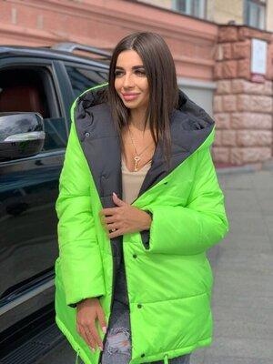 Двухсторонняя куртка 42 - 48 расцветки разные