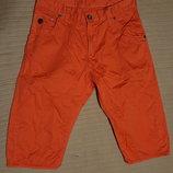 Легкие х/б фирменные шорты кораллового цвета G-Star Raw Голландия 30 р