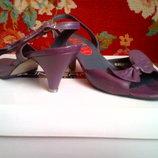 Босоножки-Кожаные фиолетовые,сиреневые винтажные.