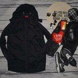 164 см Обалденная женская фирменная куртка ветровка парка с капюшоном