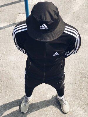Спортивная кофта, Олимпийка мужская в стиле Adidas Round черная