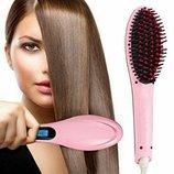Плойка, расческа-выпрямитель Fast Hair Straightener