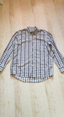 Натуральная рубашка в клетку Lacoste