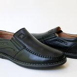 Школьные кожаные туфли KANGFU, код 703