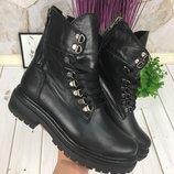Женские ботинки, осень/зима, кожа/замша