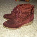 Ботинки утепленые clarks 39-39.5 размер