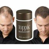 Кератиновые волосы, загуститель для редких волос, Топпик, цвет коричневый