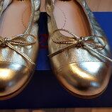 Туфли золотистые Beberlis, кожа, размер 34