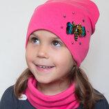 В наличии Трикотажный набор Пчелка для девочки от 4 лет 52 54 шапка хомут