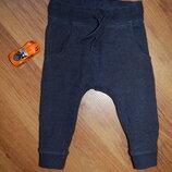 спортивные штаны Next, узкие, синие, рост 80- 86