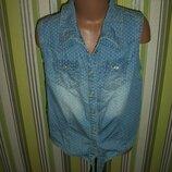крутая джинсовая рубашка на 11 лет Next Некст